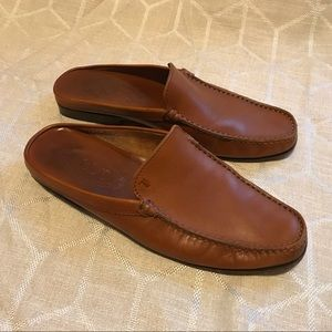 TOD'S Brown Leather Slip-On Style Loafers